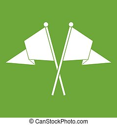 Two flags icon green