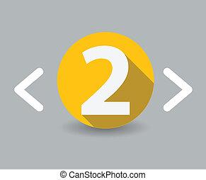 two flat design icon