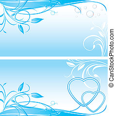 Two floral backgrounds for banner
