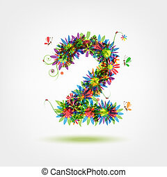 Two, floral number for your design