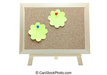 memo paper on cork board
