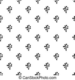 Two flowers pattern, simple style