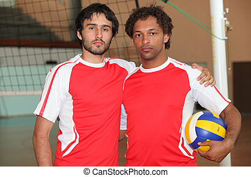 Two football players