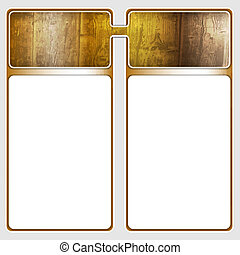 two frames for text with wood pattern