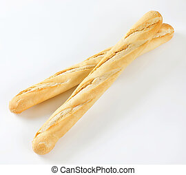 two French baguettes
