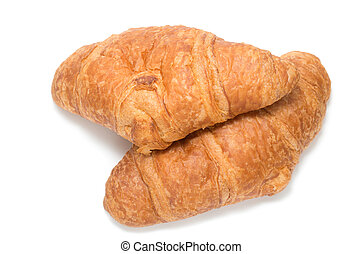 Two French croissants
