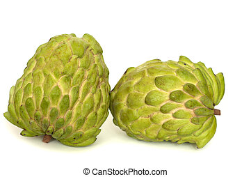 Two fresh custard apples