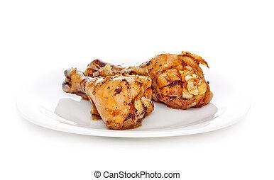 Two Fried Chicken Legs