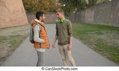 Two friends talk