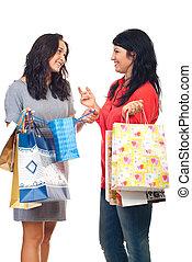 Two friends women having conversation
