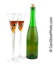 two full glasses