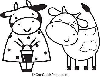Two funny cows