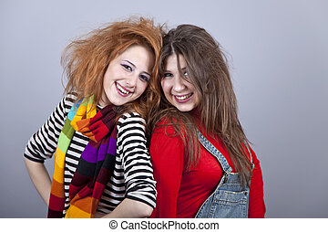 Two funny girls.