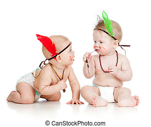 Two funny little children