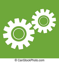 Two gears icon green
