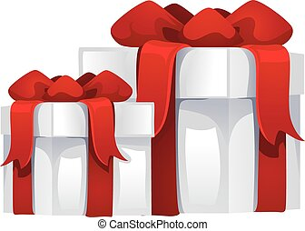 Two Gift Box Set with Ribbon