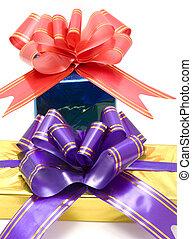 two gift boxex