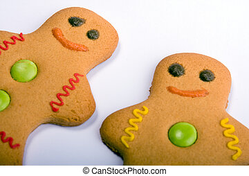 Two Gingerbread People