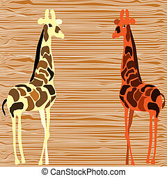 Two giraffe design vector illustration.