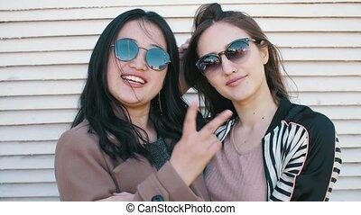 Two Girlfriends Posing