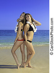 two girls at the beach