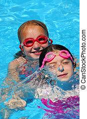 Two girls pool
