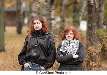two girls with red hair