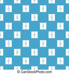 Two glass doors pattern seamless blue