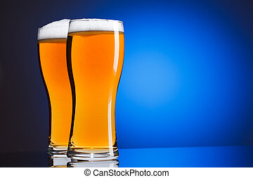 Two glasses of beer