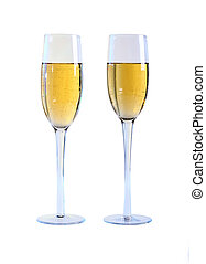 Two glasses of champagne.