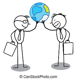 two Global businessman