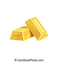 Two Golden Bars, Hidden Treasure And Riches For Reward In Flash Came Design Variation