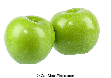 two green apple