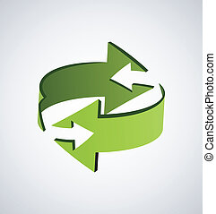 Two green arrows