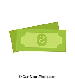 Two Green Dollars United States Money Icon Set