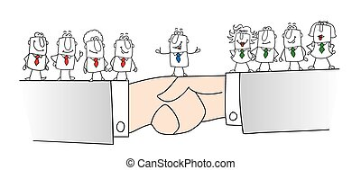 Two groups of people are not agree but joe is the best mediator . He finds a conciliation between the two parts