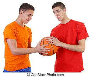 Two guys basketball