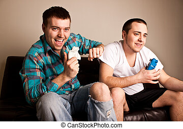 Two Guys Playing VG Fun