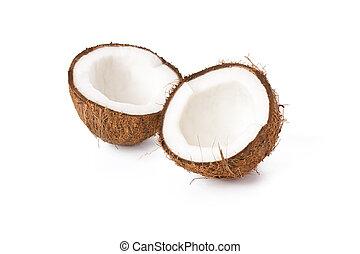 two half coconut