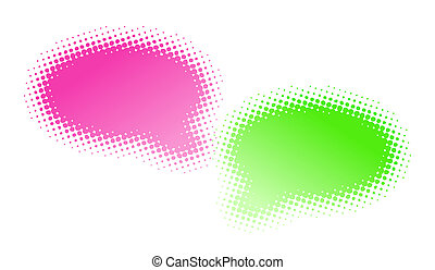 Two halftone bubbles dialog