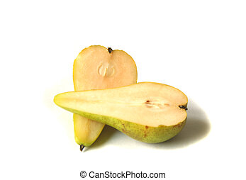 Two halves of conference pear