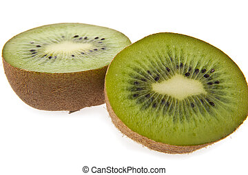 two halves of kiwi