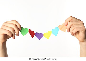 two hand love