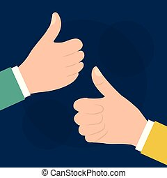 two hand with like ok thumb up gesture