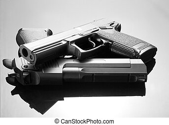 Two handguns. Desert Eagle and M23 Double Eagle