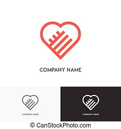 Two hands and heart logo