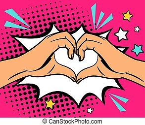 Two hands heart sign