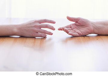 Two hands isolated