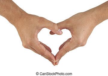 two hands make heart shape