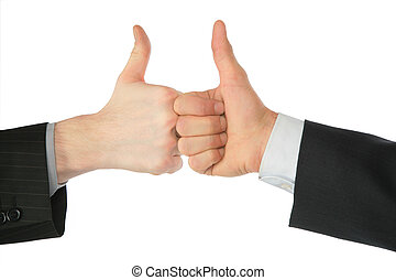 Two hands with ok gesture